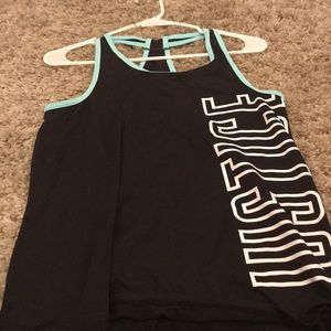 Justice work out top